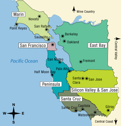 Map of San Francisco Bay Area