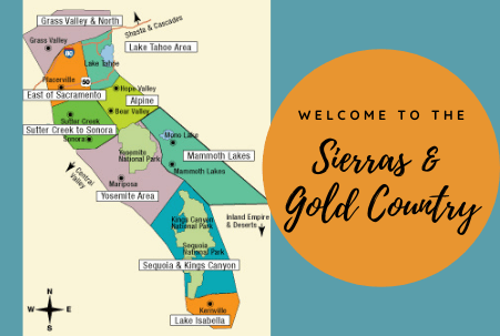 Sierras and Gold Country Vacation Ideas
