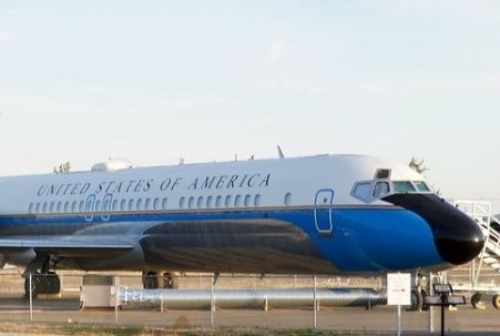 """VC-9C """"Air Force One"""" at Castle Air Museum in Atwater, CA"""