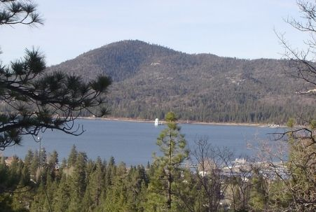 Big Bear Lake with Solar Observatory in the distance