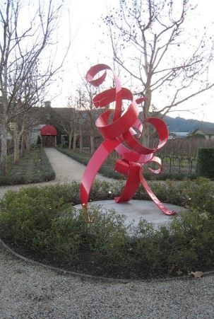 Sculpture at entry to HALL Wines in St. Helena, CA