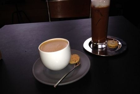 Mocha and Iced Chocolate at Dandelion Chocolate in San Francisco