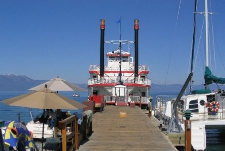 M.S. Dixie Steamboat docked at Zephyr Cove, Lake Tahoe