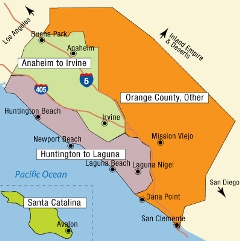 California Tourist Map - Orange County