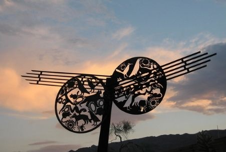 Geo-kinetic sculpture at the Oasis Visitor Center, Joshua Tree National Park