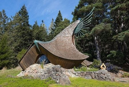 The Sea Ranch Chapel in Sea Ranch, Sonoma County, designed by James Hubbell