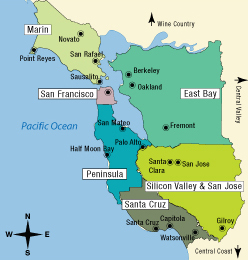 california tourist map san francisco bay area map