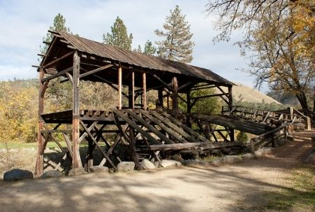 Sutter's Mill at Marshall Gold Discovery State Historic Park near Coloma, CA