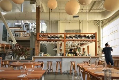 The bar at Tartine Manufactory in San Francisco's Mission District